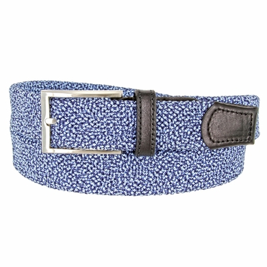 "Knitted Woven Elastic Stretch Fabric Casual Jeans Belt 1-1/4"" wide - 30200-BL049 Black/Blue"