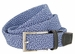 "Knitted Woven Elastic Stretch Fabric Casual Jeans Belt 1-1/4"" wide - 30200-BL049 Black/Blue1"