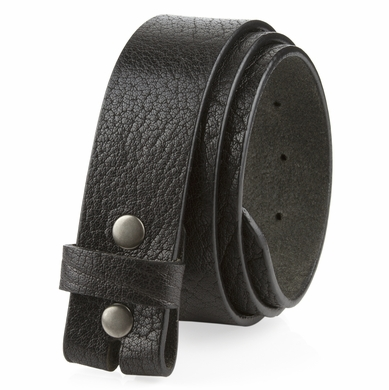 "L20181 Casual One Piece Full Grain Vintage Leather Belt Strap Made in USA 1 1/2"" Wide"