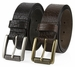 """P4316L20182 Casual One Piece Full Grain Vintage Leather Belt Made in USA 1 1/2"""" Wide Brown2"""