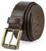 "P4316L20182 Casual One Piece Full Grain Vintage Leather Belt Made in USA 1 1/2"" Wide Brown1"