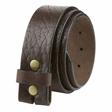 "L20182 Casual One Piece Full Grain Vintage Leather Belt Strap Made in USA 1 1/2"" Wide"