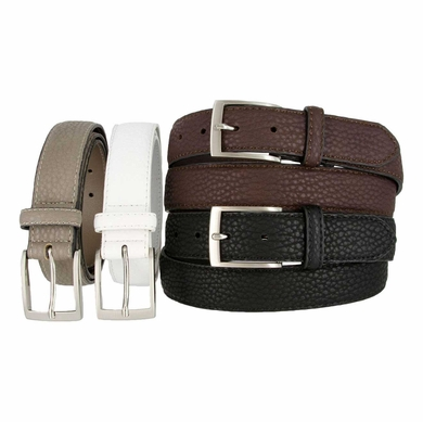 LA1131 Pebble Grain Embossed Leather Belt