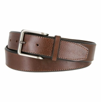 LA2006 Feathered Edge Embossed Leather Belt