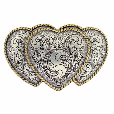 Large Triple Three Heart Shape Western Women s Belt Buckle HA0086-1 ASAG d756fcf1c9