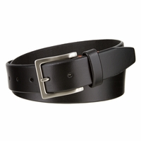 "Lee Belts Casual Genuine Leather Smooth Belt Nickel Brush Plated Buckle 1-3/8"" Wide"