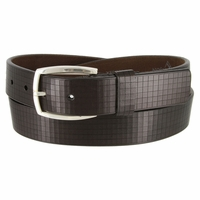 Lejon 13162 El Cubo Italian Leather Belt 1-3/8 Wide Made In USA