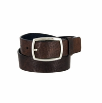 "Lejon Belt 13052 Men's Genuine Italian Leather Casual Jean Belt 1-3/8"" Wide Made in USA"