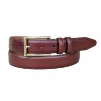 "Lejon Belt 1576 Men's Smooth Leather Dress Belt 1-1/8"" Wide - Brown"