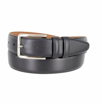 "Lejon Belt 2051 Men's Smooth Leather Dress Belt 1-3/8"" Wide - Black"