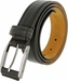 "Lejon Belt Ambassador Full Grain Calfskin Leather Dress Belt 1-3/8"" Wide Black2"