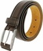 "Lejon Belt Ambassador Full Grain Calfskin Leather Dress Belt 1-3/8"" Wide Brown2"