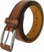 "Lejon Belt Ambassador Full Grain Calfskin Leather Dress Belt 1-3/8"" Wide Tan2"