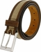 "Lejon Belt Back Nine Suede Edged Webbed Cotton Dress Belt 1-3/8"" wide - Beige2"