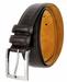 "Lejon Belt Bayside Full Grain Waxy Glove Leather Dress Belt 1-3/8"" Wide Brown1"