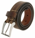 "Lejon Belt Boardwalk Full Grain Harness Leather Belt 1-3/8"" Wide Brown Made in USA1"