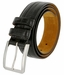 "Lejon Belt Captain's Table Italian Calfskin Leather Dress Belt 1-3/8"" Wide Black2"
