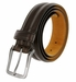 "Lejon Belt Center Club Leather Dress Belt 1-3/8"" Wide Brown Made in USA1"