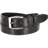 "Lejon Belt Corporate Full Grain Leather Dress Belt 1-3/8"" Wide Black"