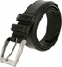 "Lejon Belt Corporate Full Grain Leather Dress Belt 1-3/8"" Wide Black2"