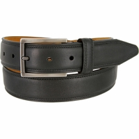 "Lejon Belt Dignitary Milled Full Grain Leather Dress Belt 1-3/8"" Wide Black"