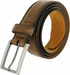 "Lejon Belt Dignitary Milled Full Grain Leather Dress Belt 1-3/8"" Wide Brown2"