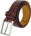 "Lejon Belt Dignitary Milled Full Grain Leather Dress Belt 1-3/8"" Wide Burgundy2"