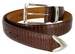 "Lejon Belt Le Bernardin Italian Calfskin Leather Dress Belt 1-3/8"" Wide Brown1"
