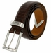 "Lejon Belt Le Bernardin Italian Calfskin Leather Dress Belt 1-3/8"" Wide Brown2"