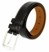 "Lejon Belt Le Pergola Italian Calfskin Leather Dress Belt 1-3/8"" Wide Black2"