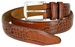 "Lejon Belt Le Pergola Italian Calfskin Leather Dress Belt 1-3/8"" Wide Cognac1"