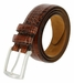 "Lejon Belt Le Pergola Italian Calfskin Leather Dress Belt 1-3/8"" Wide Cognac2"