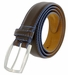 "Lejon Belt Novara Grain Steerhide Leather Dress Belt 1-3/8"" Wide Brown1"
