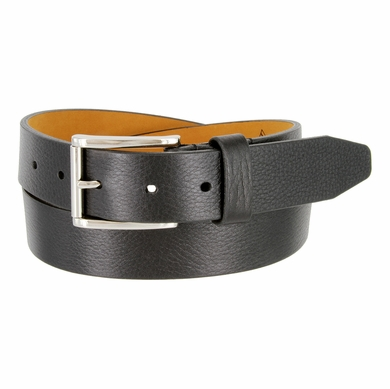"Lejon Belt Roxbury Italian Calfskin Leather Dress Belt 1-3/8"" Wide Black"