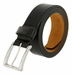 "Lejon Belt Roxbury Italian Calfskin Leather Dress Belt 1-3/8"" Wide Black2"