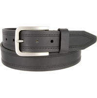 "Lejon Belt Tam Genuine Leather Casual Jean Belt Made in USA 1-1/2"" wide Black"