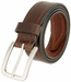 "Lejon Belt Tam Genuine Leather Casual Jean Belt Made in USA 1-1/2"" wide Brown2"