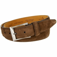 Lejon Cashmere Suede Leather Dress Belt LJ-15882 - Brown