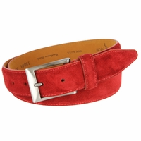 Lejon Cashmere Suede Leather Dress Belt LJ-15884 - Red