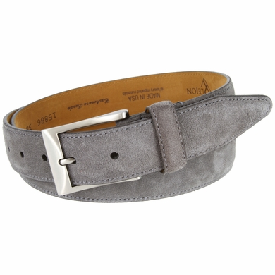 Lejon Cashmere Suede Leather Dress Belt LJ-15886 - Gray