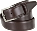 "MA133860 Genuine Italian Calfskin Leather Dress Casual Belt 1-3/8"" (35mm) wide with Nickel Plated Buckle2"