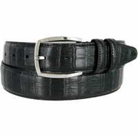 "MA133861 Genuine Italian Calfskin Leather Dress Casual Belt 1-3/8"" (35mm) wide with Nickel Plated Buckle"