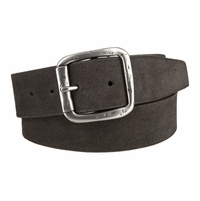 "LEJON Belt 41301 Men's Casual Suede Leather Belt 1-1/2"" wide-Gray Made in USA Belt"