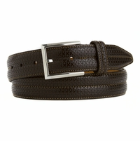 LEJON Men's Dress Genuine Italian Leather Belt Made in the USA Brown L15802