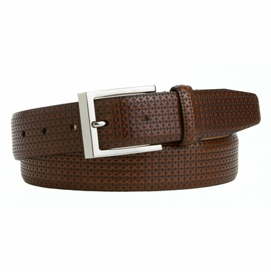 LEJON Men's Dress  Italian Calfskin Leather Belt Made in the USA Brown L11093
