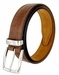 Lejon Triple Stitched Alligator Embossed Italian Calfskin Casual Dress Belt - Brown3