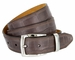 Lejon Triple Stitched Alligator Embossed Italian Calfskin Casual Dress Belt - Coffee1