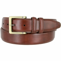 "Lejon UN-1536 Genuine Italian Calfskin Leather Dress Casual Belt 1-3/8"" (35mm) wide"