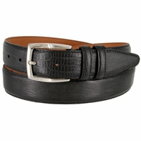 LJ2001 Lizard Embossed Belt 1-3/8 Wide Made In USA