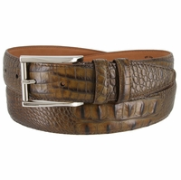 Lejon 2053 Italian Calfskin American Alligator Embossed Belt 1-3/8 Wide Made In USA Size 32
